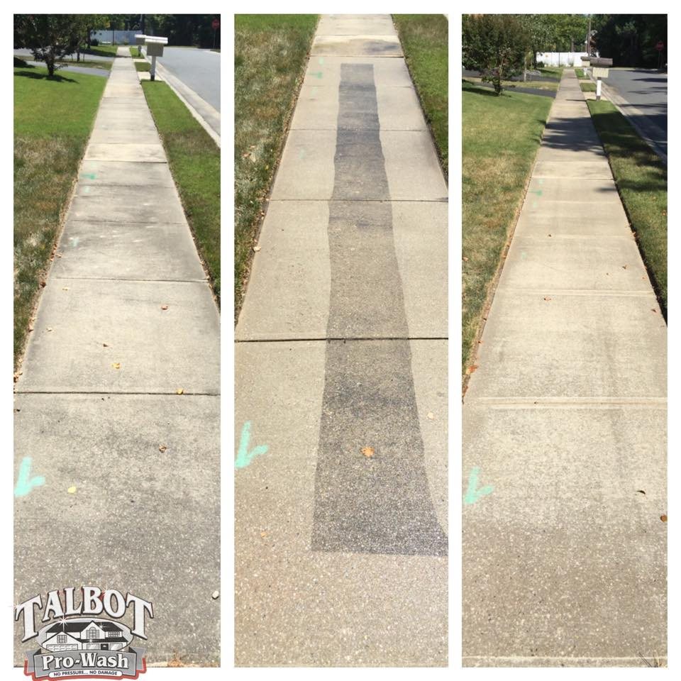 Concrete Sidewalk Cleaning Easton MD