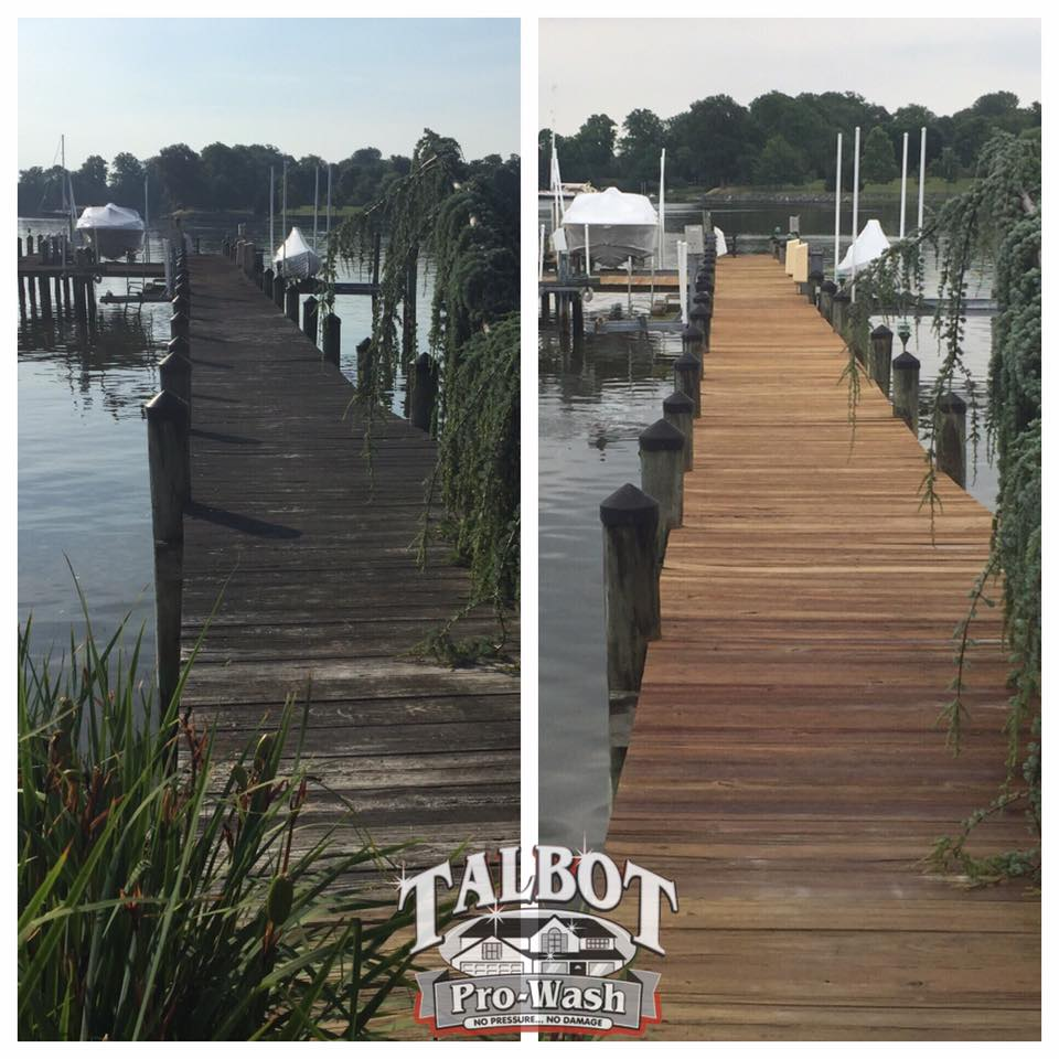 Dock Cleaning Talbot Pro Wash Chesapeake Bay And